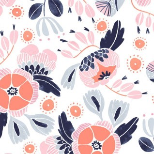 Floral Fabric | Dear Stella Camping Floral Fabric