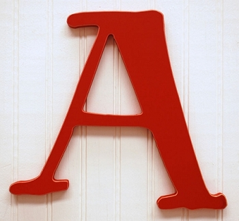 Rusty Red Wood Letters