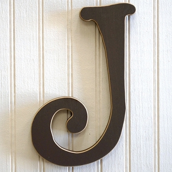Chocolate Wood Letters