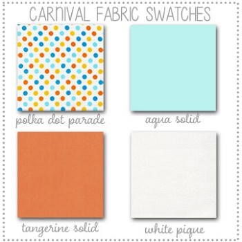Carnival Bedding Collection Fabric Swatches Only
