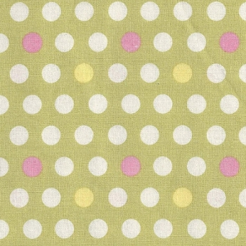 Free Spirit Savon Bouquet Pear Fabric | Pink & Green Polka Dot