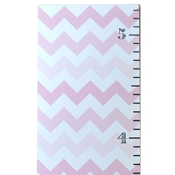 Pink Ombre Chevron Growth Chart