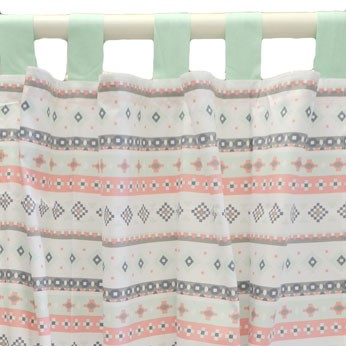 Pink Tribal Curtain Panels | Pink Cheyenne Crib Collection