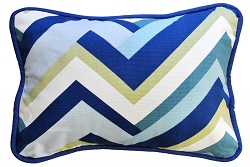 Navy & Green Chevron Throw Pillow | Clubhouse Crib Collection