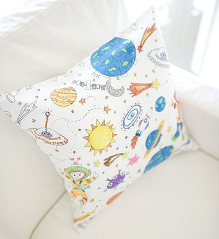 Color Me to the Moon & Back Throw Pillow