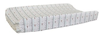 Coral Arrow Changing Pad Cover | Desert Bloom Arrow Crib Collection
