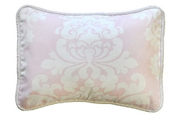 Pink Damask Throw Pillow | Cross My Heart Crib Collection