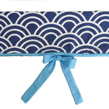 Navy & Aqua Crib Rail Cover