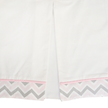 Custom Pink & Gray Chevron Skirt