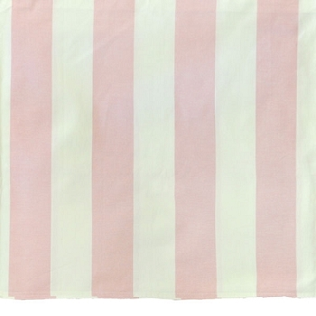 Wide Pink Stripe Crib Skirt with Pleat