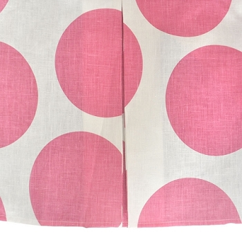 Hot Pink Dot Crib Skirt | Spot On Fuchsia Crib Collection