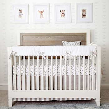 Dalmatian Spots Neutral Crib Rail Cover Set - No Longer Available
