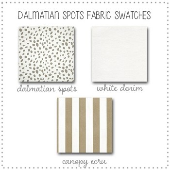Dalmatian Spots Crib Bedding Collection Fabric Swatches Only