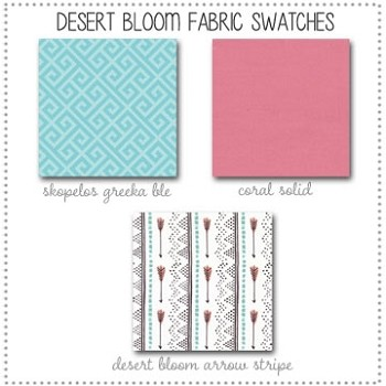 Desert Bloom Arrow Bedding Collection Fabric Swatches Only