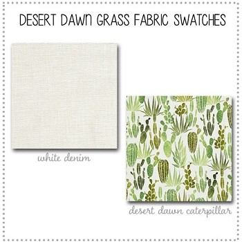 Desert Dawn in Grass Bedding Collection Fabric Swatches Only