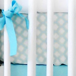 Aqua & Green Moroccan Crib Sheet | Dream Oasis Collection