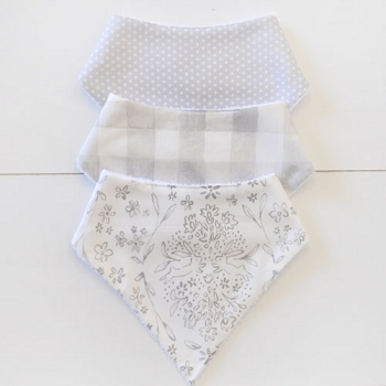 Baby Bandana Bib Set | Bunny Love Collection