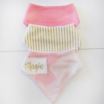 Baby Bandana Bib Set | You are Magic in Pink Collection