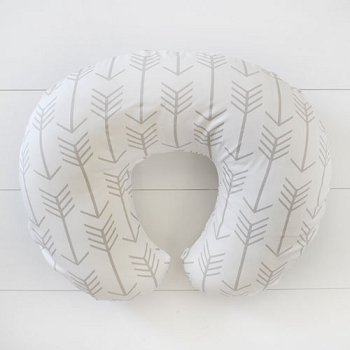 Ecru Arrow Nursing Pillow Covers | Be Brave Crib Collection