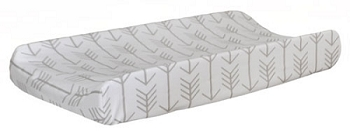 Ecru Arrow Changing Pad Cover  |  Be Brave Crib Collection