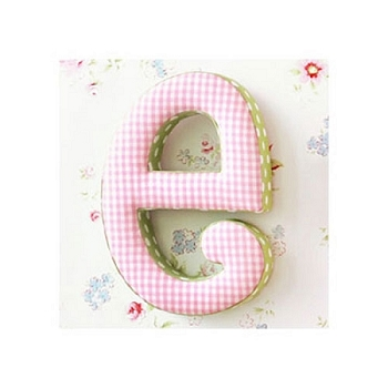 Fabric Wall Letters | Pink and Green