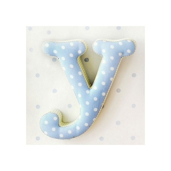 Fabric Wall Letters | Blue and Green