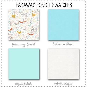 Faraway Forest Crib Collection Fabric Swatches Only