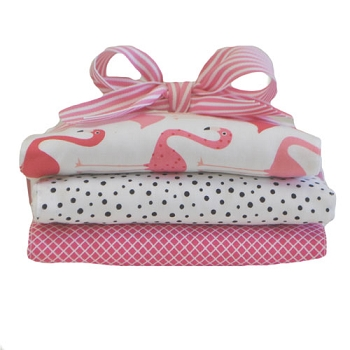 Pink Flamingo Burp Cloth Set | Pink Flamingo Collection
