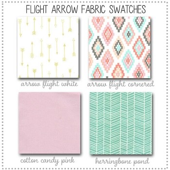 Arrow Flight Bedding Collection Fabric Swatches Only