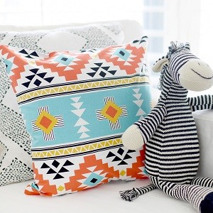 Black and Red Tribal Pillow | Four Corners Crib Collection