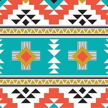 Aztec Fabric | Riley Blake Four Corners Main Teal
