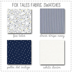 Fox Tales Crib Collection Fabric Swatches Only
