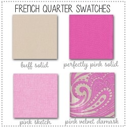 French Quarter Crib Collection Fabric Swatches Only