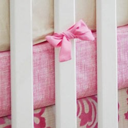 Sketch Pink Crib Sheet  |  French Quarter Crib Collection