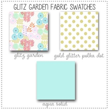 Glitz Garden Bedding Collection Fabric Swatches Only