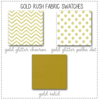 Gold Rush Bedding Collection Fabric Swatches Only