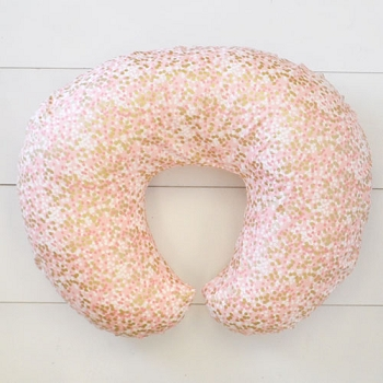 Coral & Gold Dot Nursing Pillow Slipcover | Shimmer Reflections Collection