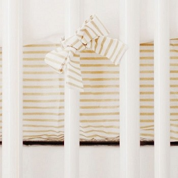 Gold Stripe Crib Sheet  |  Gold Dust Crib Collection