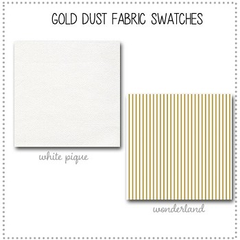 Gold Dust Crib Collection Fabric Swatches Only