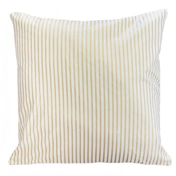 Gold Stripe Throw Pillow 2  |  Gold Dust Crib Collection