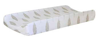 Gold Changing Pad Cover  |  Gold Feather Crib Collection