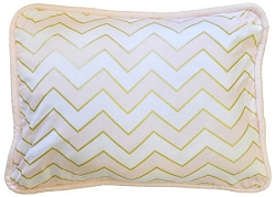 Gold & Pink Chevron Throw Pillow  |  Gold Rush in Pink Crib Collection