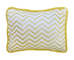 Gold Chevron Pillow | Gold Rush Crib Collection