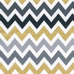 Robert Kaufman Remix Chevron in Smoke