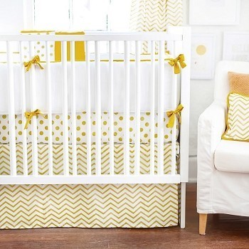 Gold Baby Bedding | Gold Rush Crib Collection