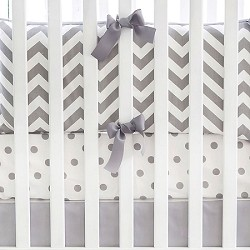 Gray Chevron Crib Bedding