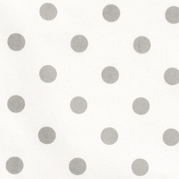 White & Gray Polka Dot Fabric | Premier Prints Polka Dot Storm/White
