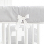 Gray and White Nursery Rail Guard
