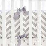 Gray Chevron Crib Bumper