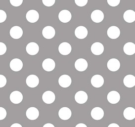 Gray Polka Dot Fabric | Riley Blake Medium Dots